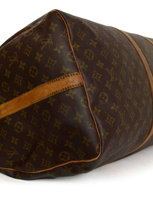 845013be3635 Louis Vuitton Monogram Keepall Bandouliere 60 Luggage GHW In Good Condition  For Sale In New York