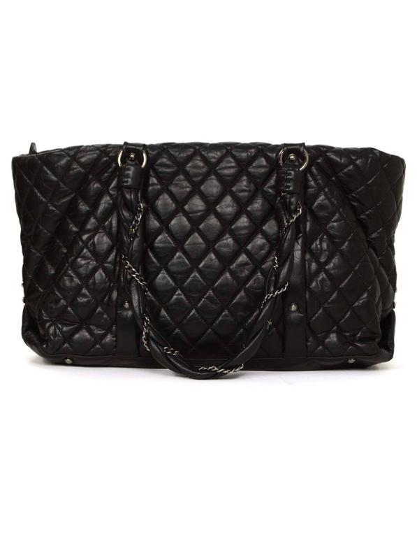 cf33fdb72cd40f ... Features Chanel Lady Braid chain handles braided in. Chanel Black  Distressed Quilted Lady Braid Ligne Tote Bag SHW In Excellent Condition For  Sale In