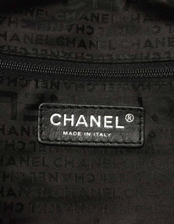 8529ae85e0faa0 Chanel Black Distressed Quilted Lady Braid Ligne Tote Bag SHW For Sale 3