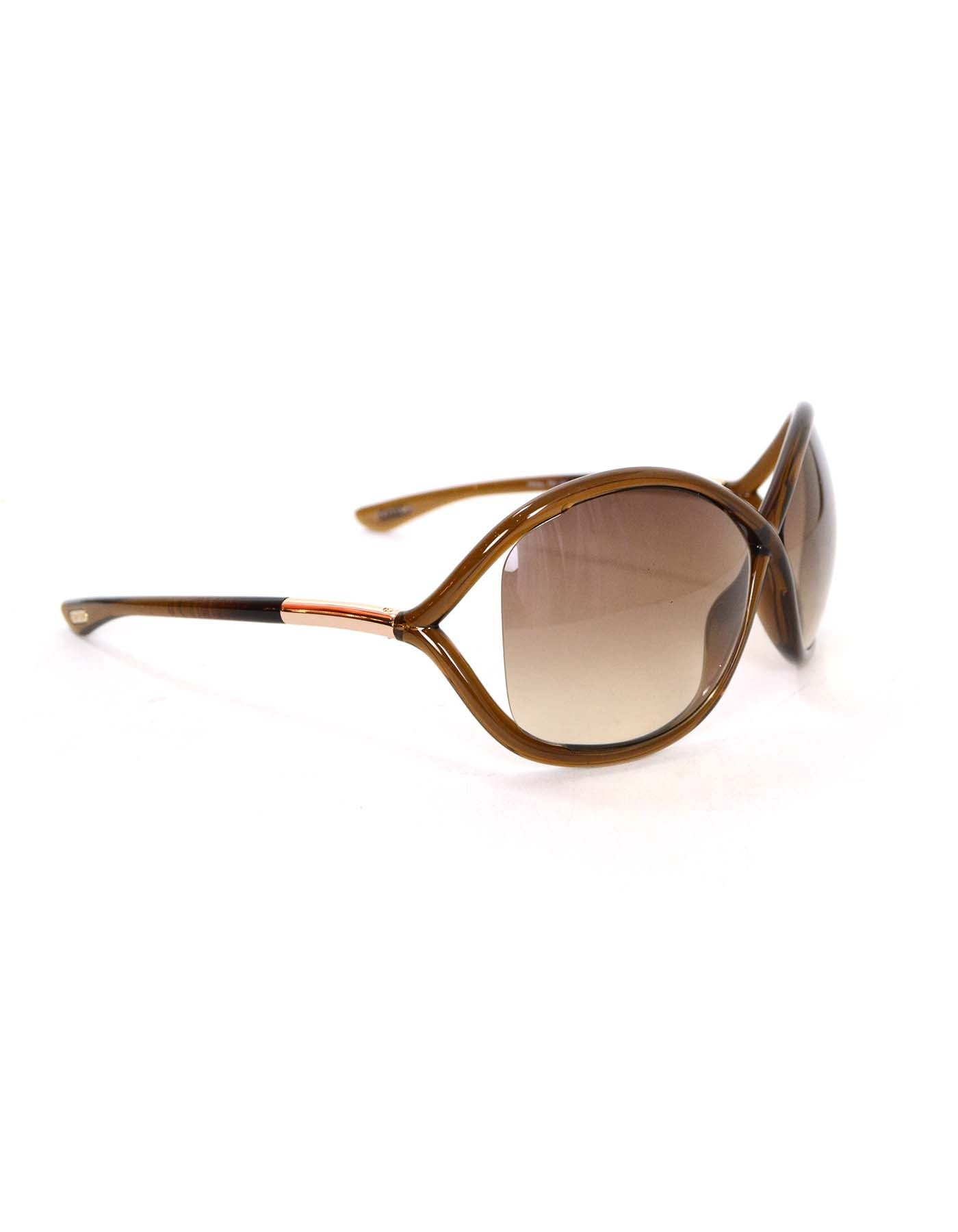 88b1210296 Tom Ford Brown Oversized  Whitney  Sunglasses For Sale at 1stdibs