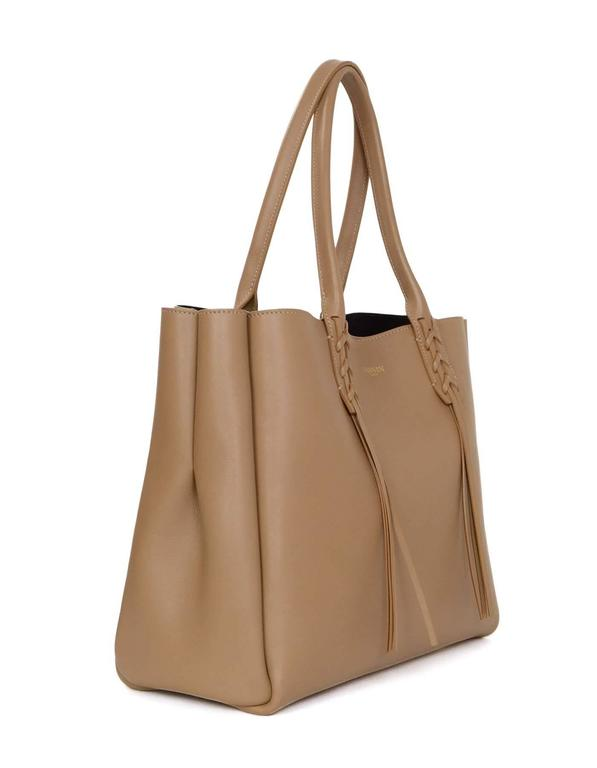 Lanvin Taupe Tassel Small Shopper Tote Bag GHW at 1stdibs