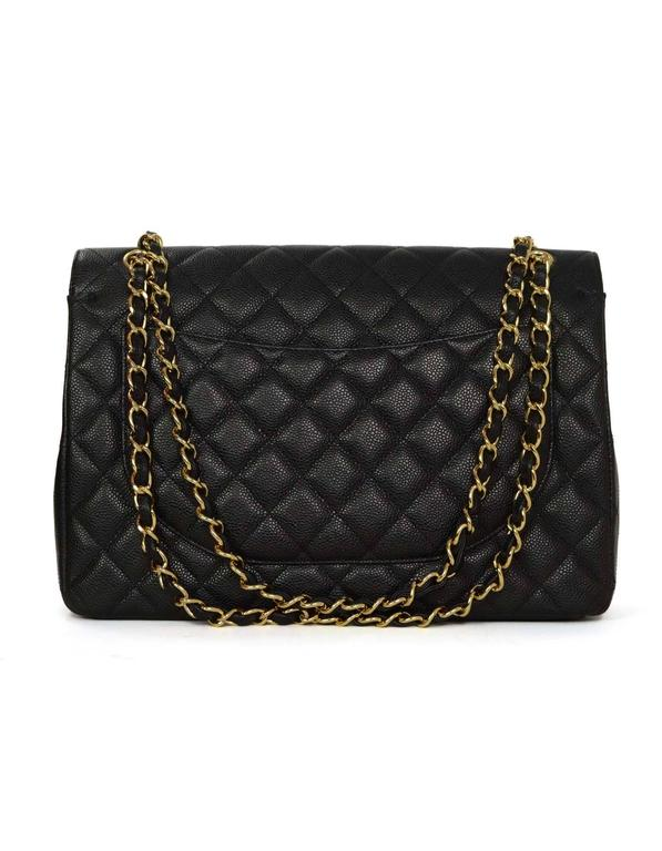 Chanel Black Classic Maxi Double Flap Bag