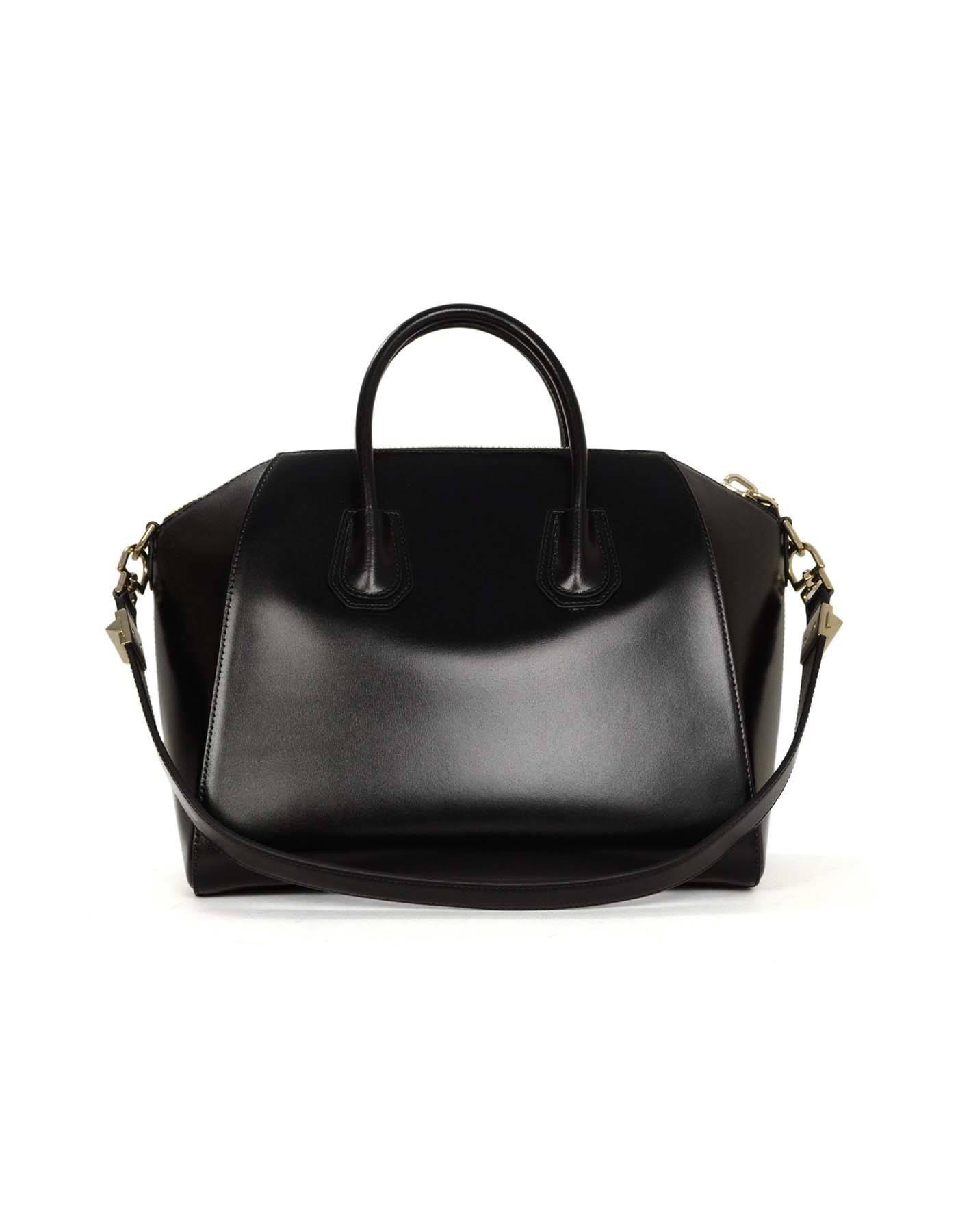 18c015b430 Givenchy Black Shiny Calfskin Medium Antigona Black SHW For Sale at 1stdibs