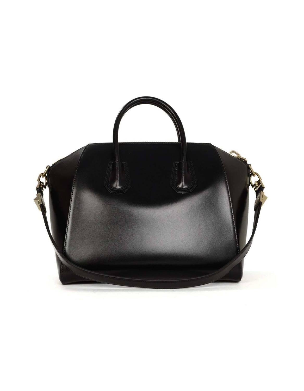 hermes birkin replica cheap - Givenchy Black Glazed Leather Medium Antigona Bag SHW For Sale at ...