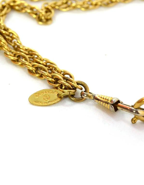Chanel Vintage '90s Gold Double Strand Chain Link Necklace 4
