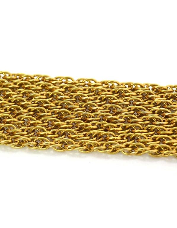 Chanel Vintage '90s Gold Double Strand Chain Link Necklace 3