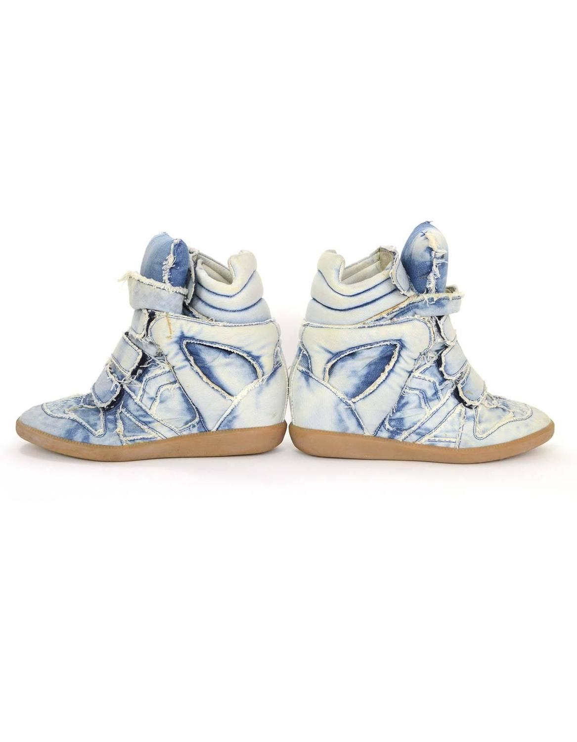 isabel marant blue denim bekket sneakers sz 37 for sale at 1stdibs. Black Bedroom Furniture Sets. Home Design Ideas