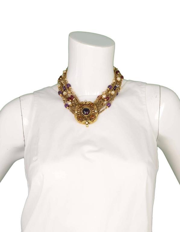 Chanel Vintage 1984 3-Way Multi-Strand Medallion Necklace 6