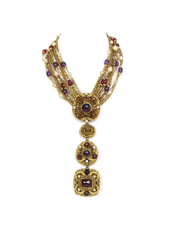 Chanel Vintage 1984 3-Way Multi-Strand Medallion Necklace 2