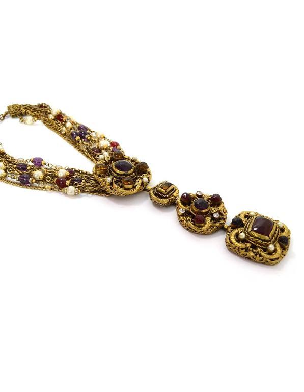 Chanel Vintage 1984 3-Way Multi-Strand Medallion Necklace 3