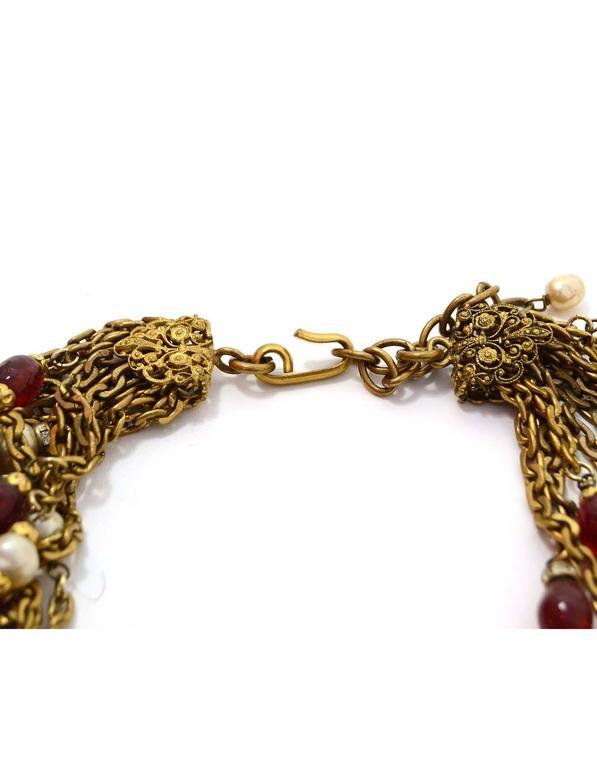 Chanel Vintage 1984 3-Way Multi-Strand Medallion Necklace 4