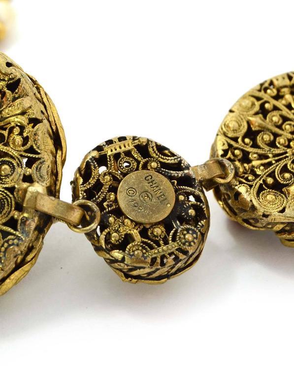 Chanel Vintage 1984 3-Way Multi-Strand Medallion Necklace 5