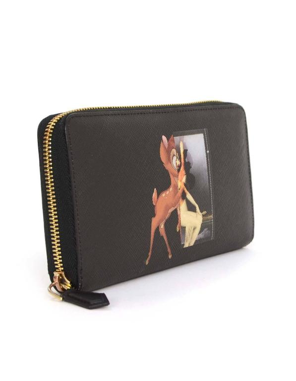 66b2839e36 Givenchy Bambi Print Saffiano Zip-Around Wallet Made In: Romania Year of  Production: