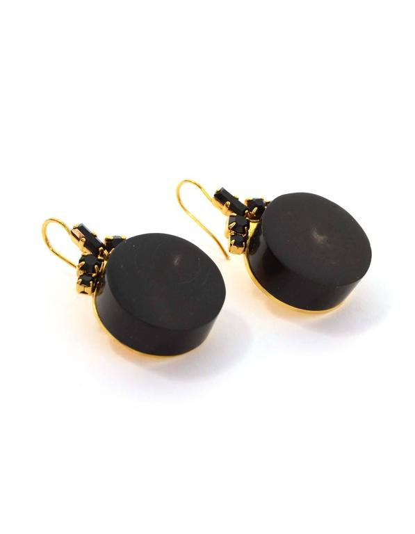 marni black and gold drop earrings for sale at 1stdibs