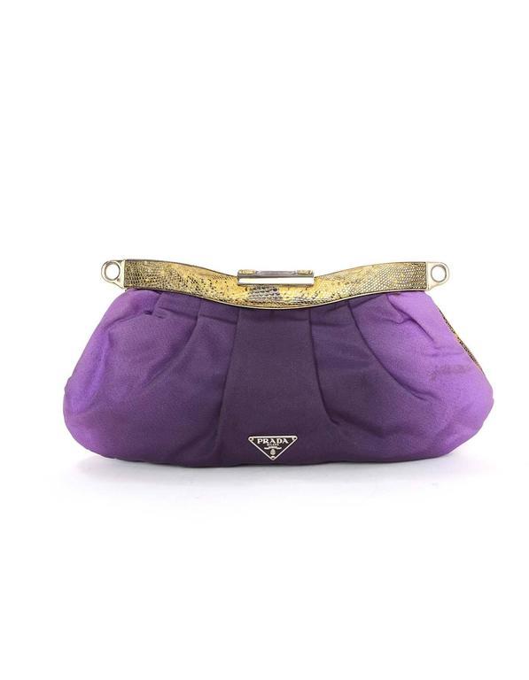 e8081f76f969 Prada Purple Ombre Satin Evening Bag SHW For Sale at 1stdibs
