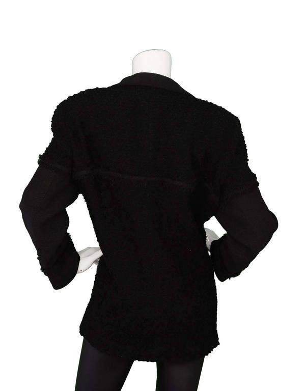 Chanel Black Heavy Boucle Overcoat sz 50 3