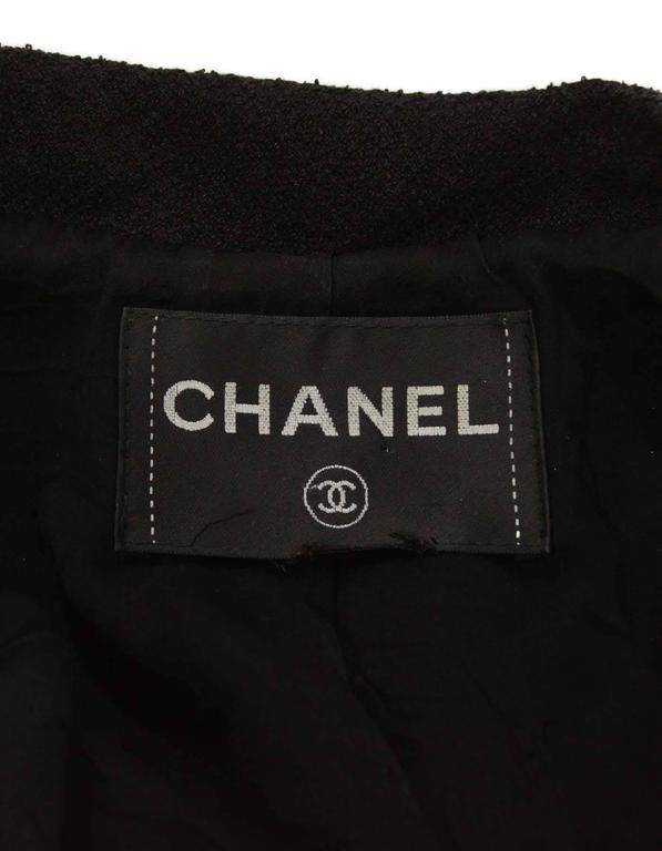 Chanel Black Heavy Boucle Overcoat sz 50 4