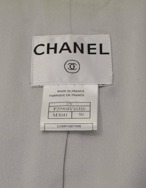 Chanel Pastel Blue Tweed Open Front Jacket sz 50 4