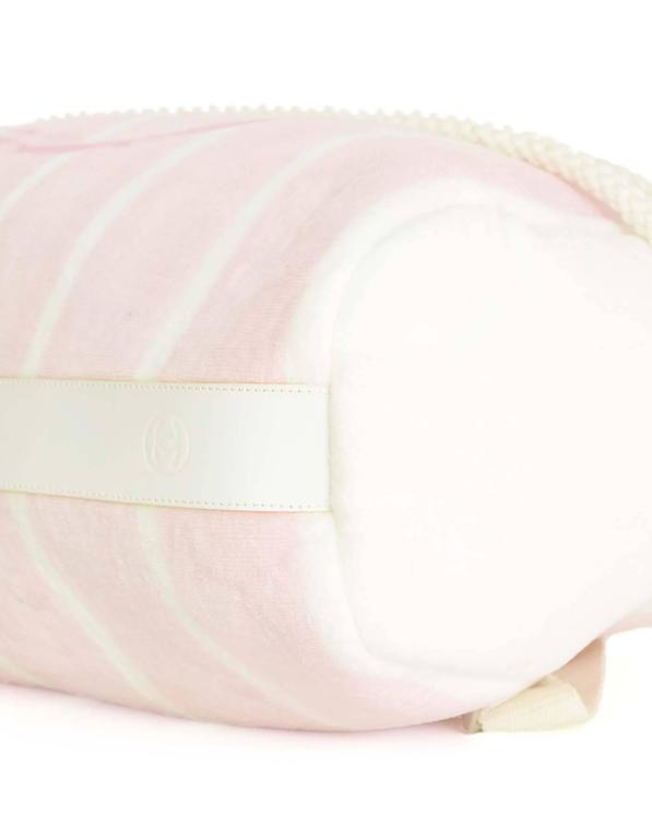 Chanel Pink & White CC Terrycloth Bag & Beach Towel Set SHW 4