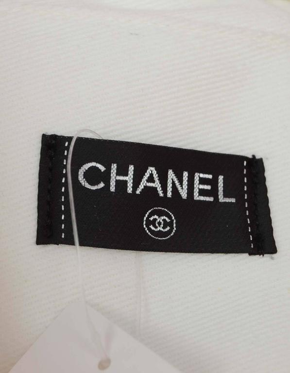 Chanel Pink & White CC Terrycloth Bag & Beach Towel Set SHW 7