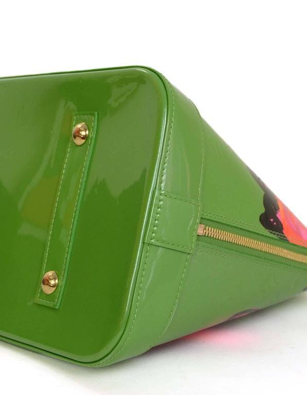 Louis Vuitton Green Monogram Vernis Rare Stephen Sprouse Roses Alma GM 5