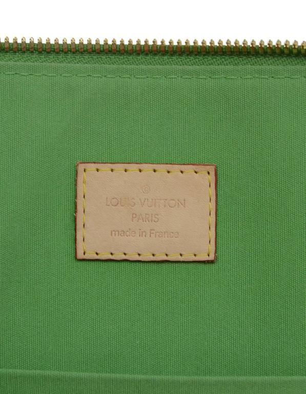 Louis Vuitton Green Monogram Vernis Rare Stephen Sprouse Roses Alma GM 7