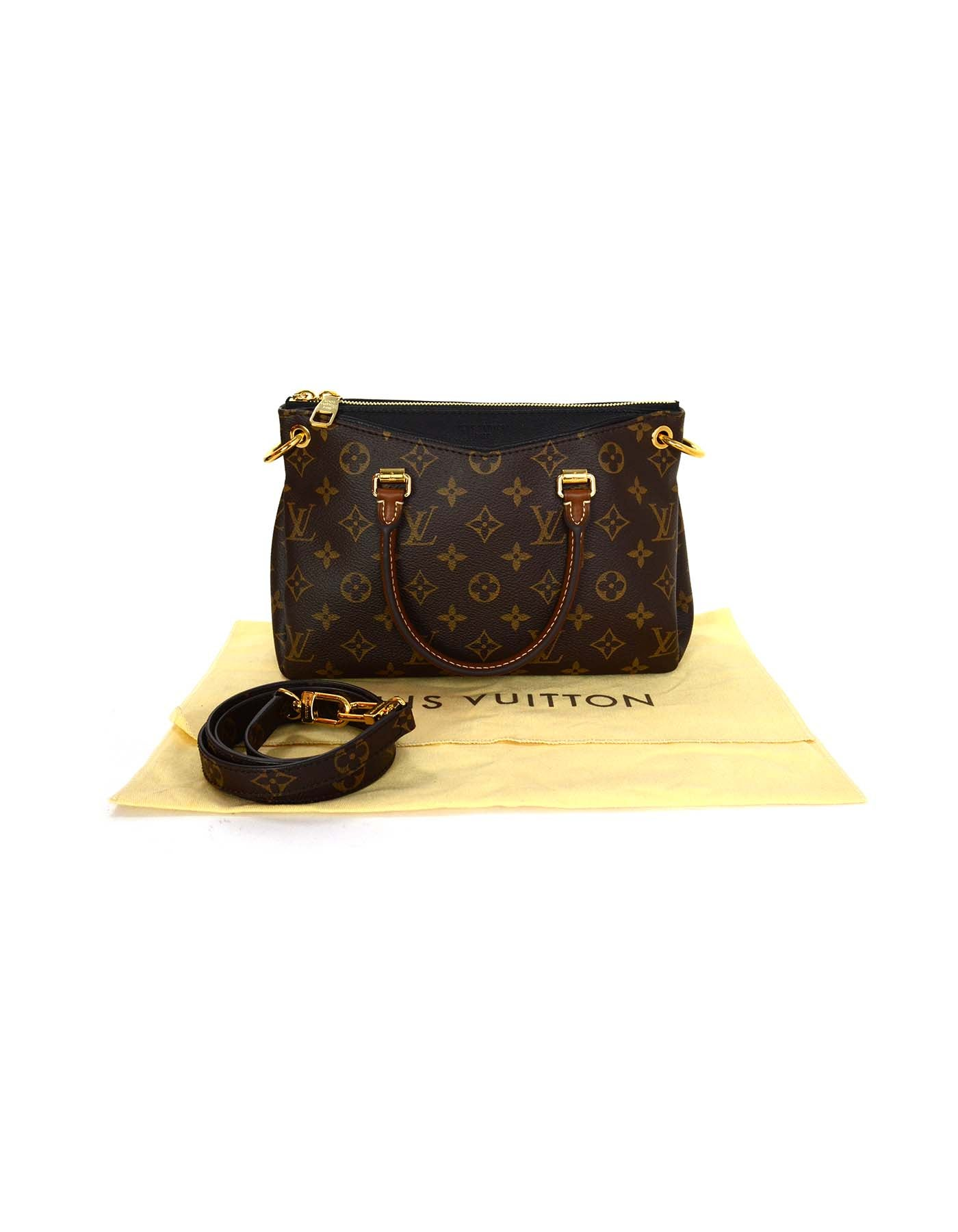 bf5b9192e Louis Vuitton Monogram Canvas and Black Leather Pallas BB Crossbody Bag GHW  For Sale at 1stdibs