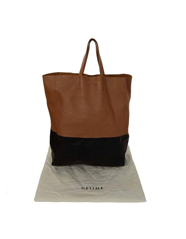 Celine Black & Tan Leather Bi-Cabas Tote rt. $1,290 9