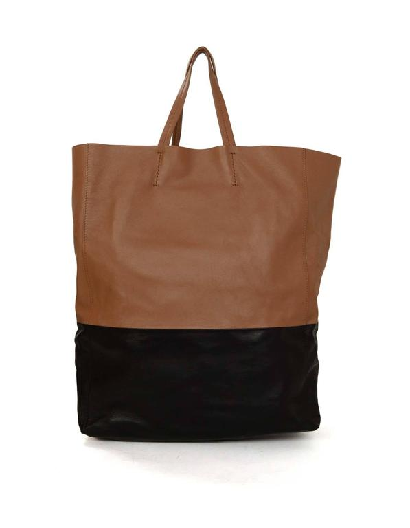 Celine Black & Tan Leather Bi-Cabas Tote rt. $1,290 2