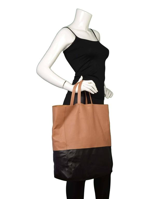 Celine Black & Tan Leather Bi-Cabas Tote rt. $1,290 10
