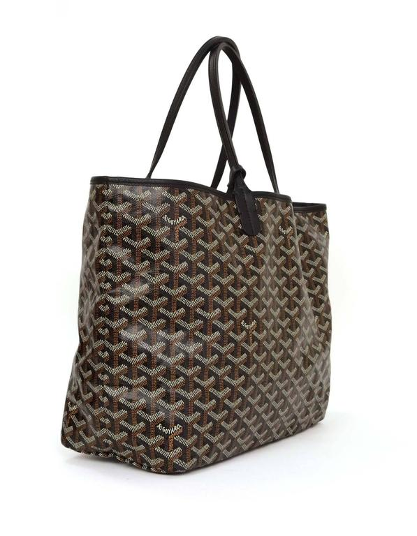 Goyard Black Chevron Saint Louis PM Tote
