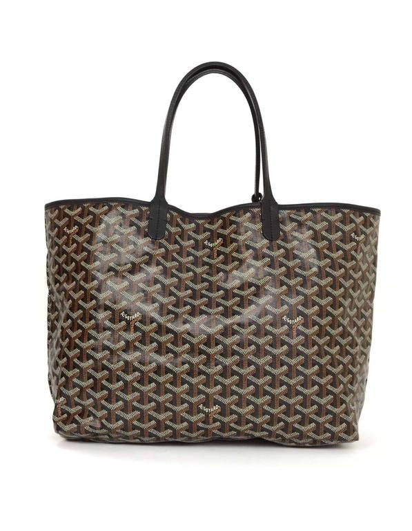 Goyard Black Chevron Saint Louis PM Tote In Excellent Condition For Sale In New York, NY
