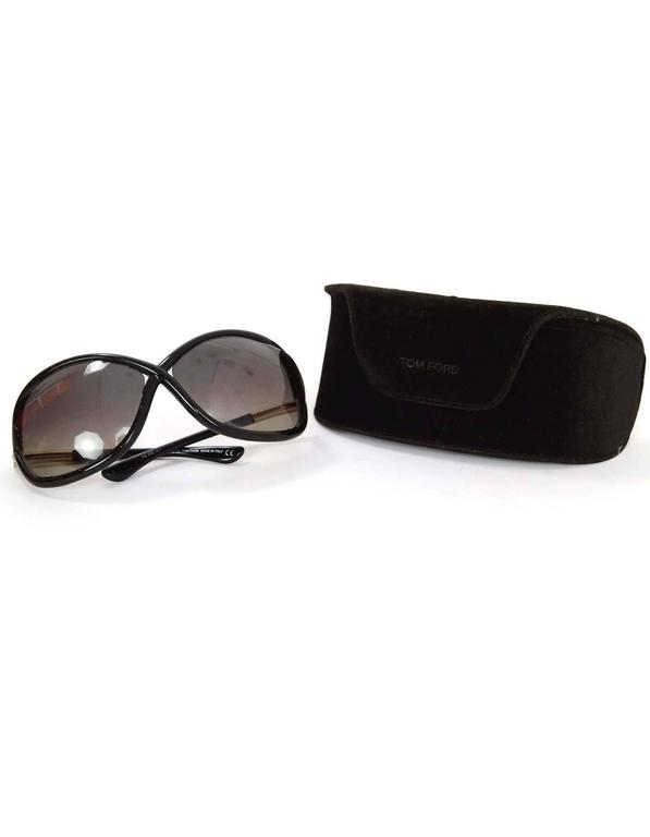 Tom Ford Black Jennifer Polarized Oval Sunglasses 2