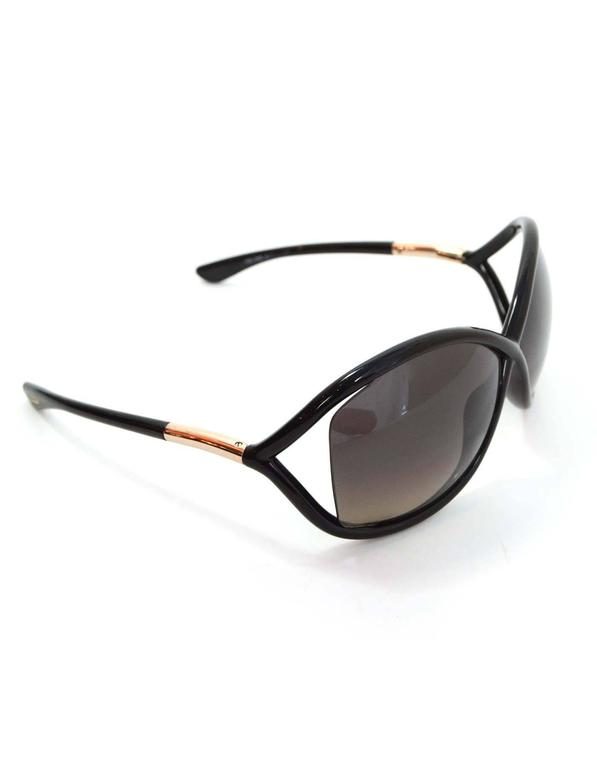 Tom Ford Black Jennifer Polarized Oval Sunglasses