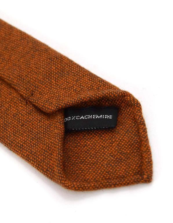 Brown Hermes Burnt Orange Cashmere Tie For Sale