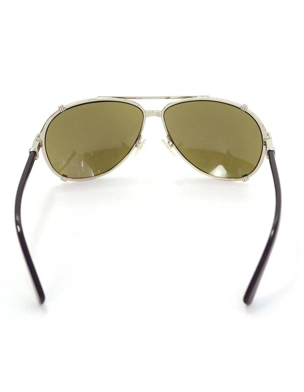 0d0ee44d98e Christian Dior Blue Chicago 63MM Aviator Sunglasses w  Box and Case For  Sale at 1stdibs