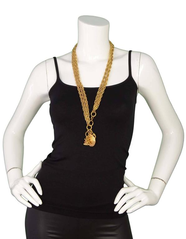 Chanel Gold-Tone Multi-Strand Belt/Necklace with Charm Detail 2