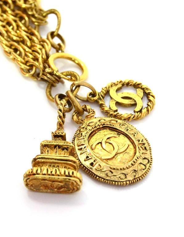 Chanel Gold-Tone Multi-Strand Belt/Necklace with Charm Detail 4