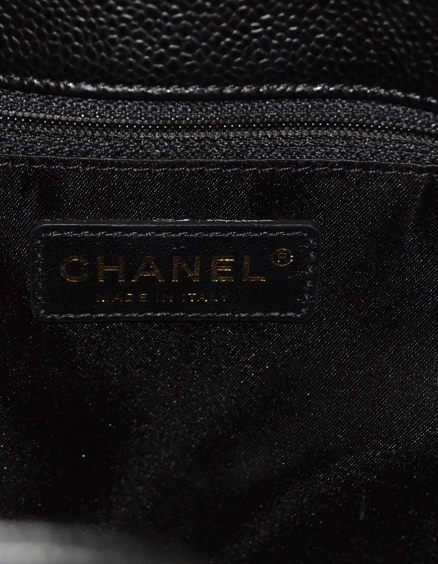 09c4ab5a3892f0 Chanel NEW Black Caviar Leather Petite Shopper Tote Bag PST GHW For Sale at  1stdibs
