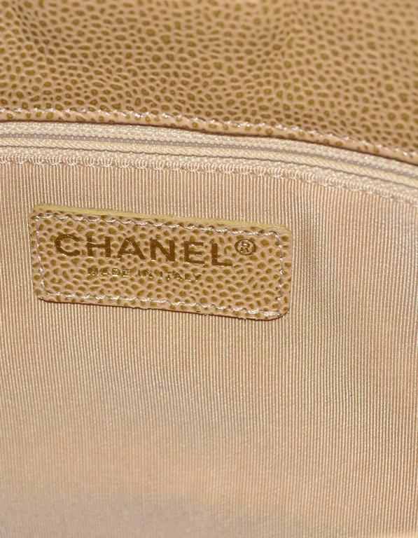3490607203d094 Chanel Tan Caviar PST Petite Shopper Tote Bag GHW For Sale at 1stdibs