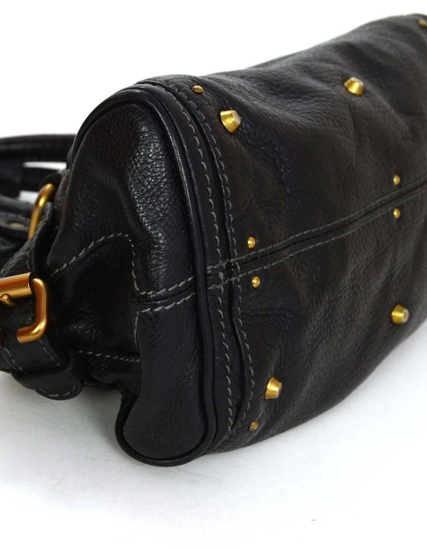cloe bag - Chloe Black Leather Mini Paddington Bag GHW For Sale at 1stdibs