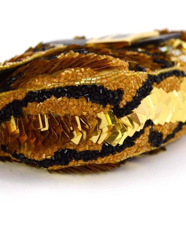 Women's Fendi Gold & Black Sequin Baguette GHW