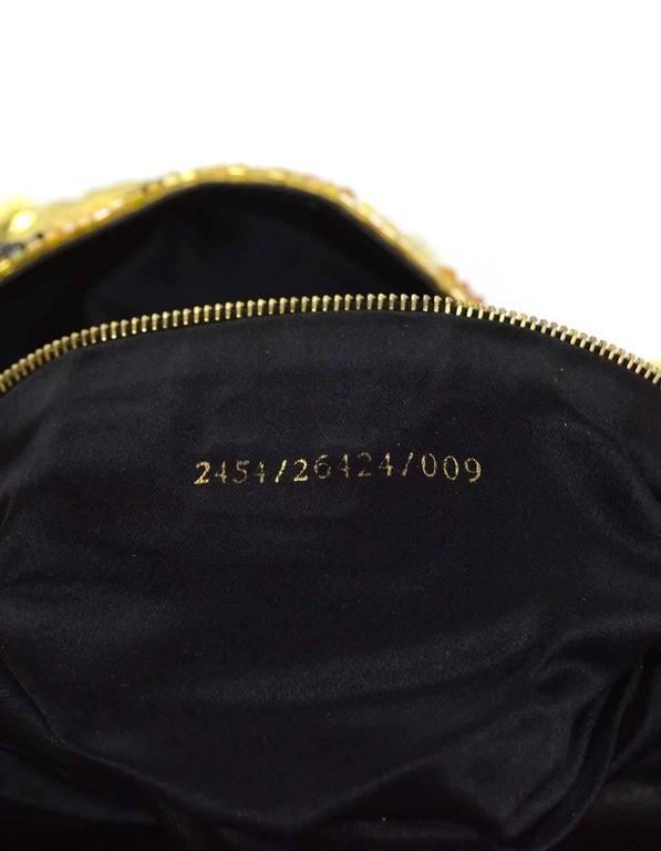 Fendi Gold & Black Sequin Baguette GHW 4