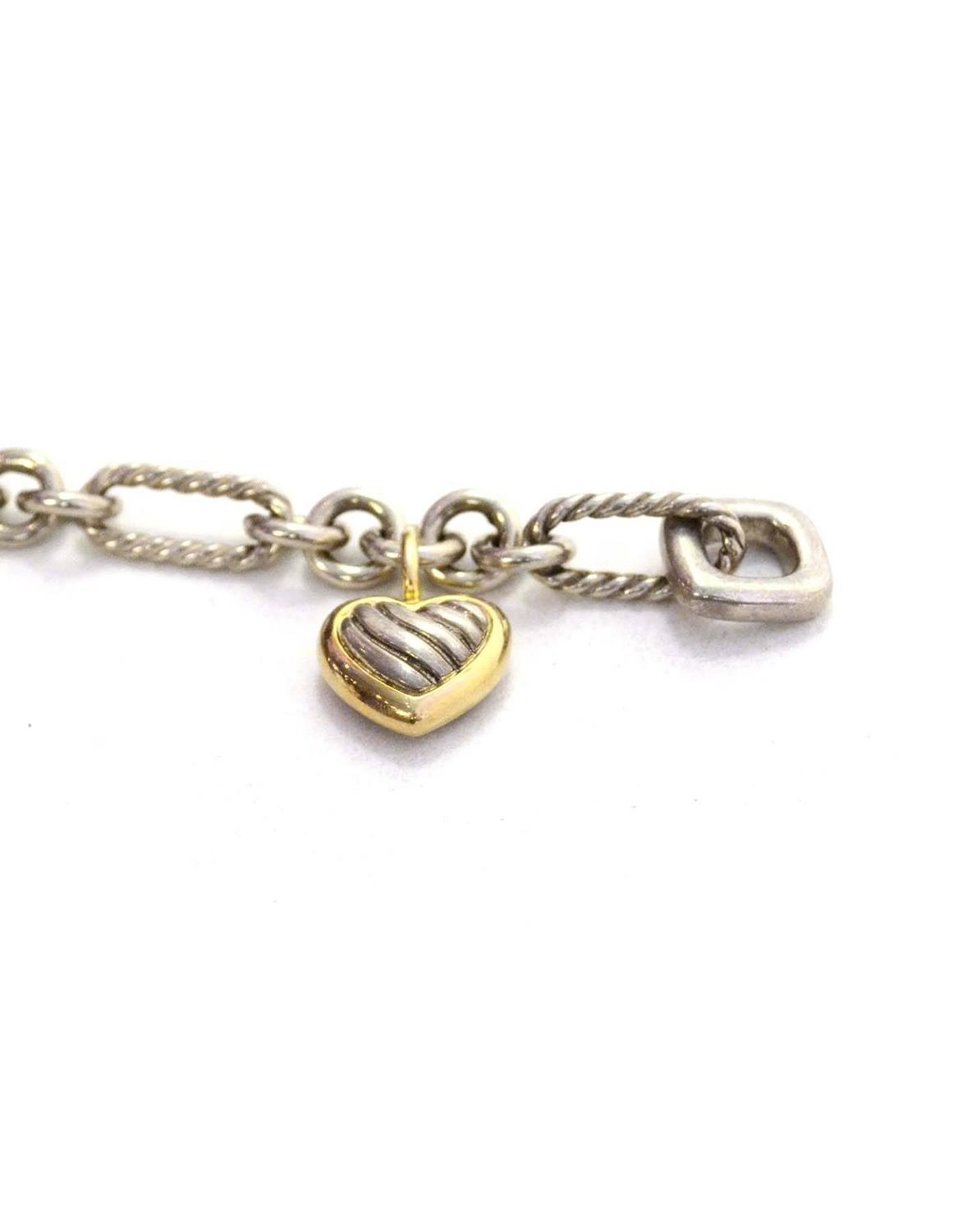 david yurman charm bracelet david yurman sterling and 18k gold chain link bracelet at 4489