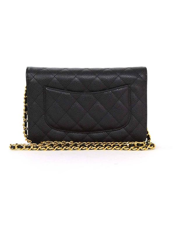 34c46b2f6c0f Chanel LIKE NEW Black Quilted Caviar WOC with GHW Box/Dust Bag/Auth Card