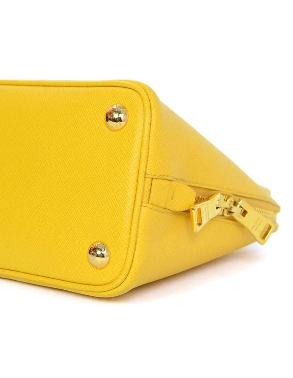 Prada Yellow Mini Promenade Saffiano Bag with GHW and Dust bag 5
