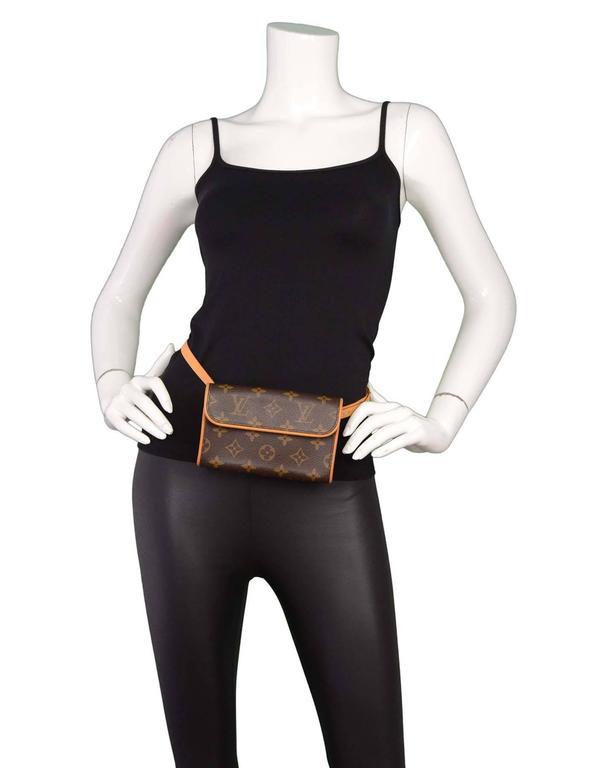 louis vuitton monogram pochette florentine belt bag with box at 1stdibs