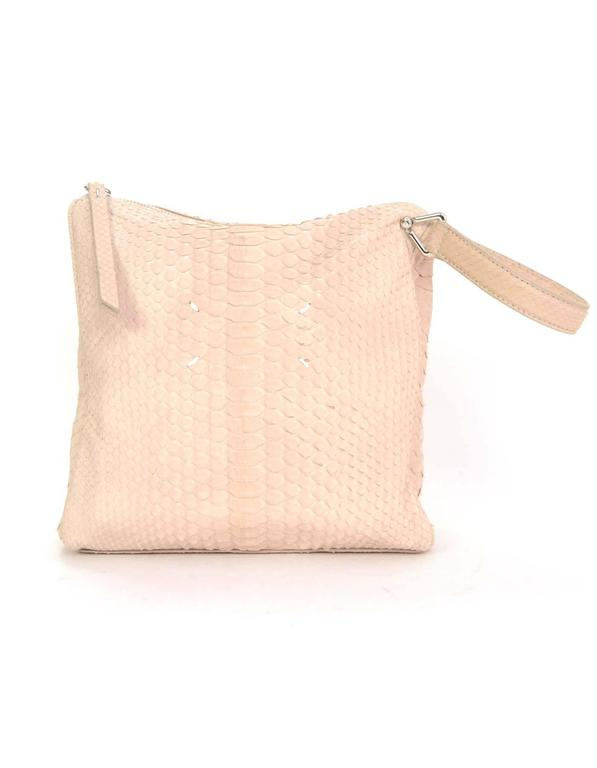 Maison Martin Margiela Pink Python Elaphe Wristlet Clutch Bag rt. $2,365 In Excellent Condition For Sale In New York, NY