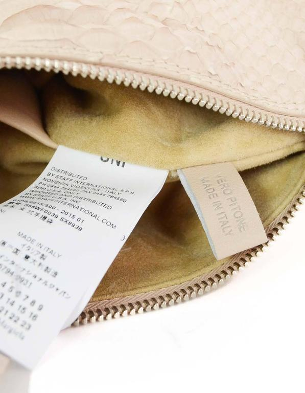 Maison Martin Margiela Pink Python Elaphe Wristlet Clutch Bag rt. $2,365 9