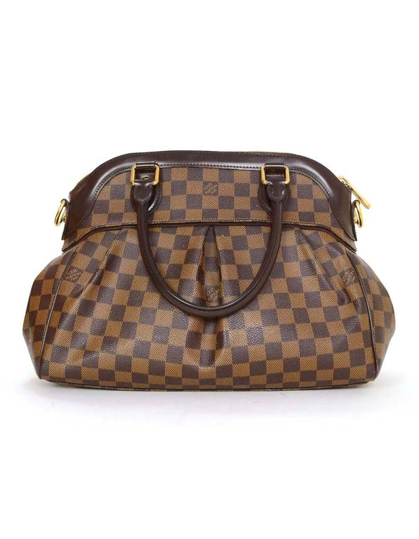 louis vuitton damier ebene trevi pm tote bag w   strap rt   2 410 for sale at 1stdibs